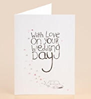 Diamanté Car Wedding Card