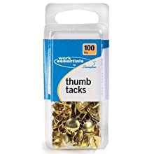 Swingline Work Essentials Thumb Tacks, 100 Count, Gold, (S7071752)