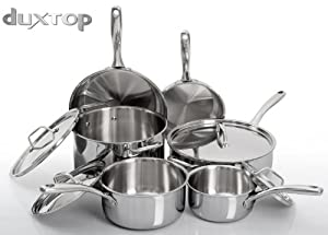 Duxtop Professional Stainless Steel Induction Cookware Set Impact-bonded Technology