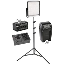 Genaray SpectroLED Essential 360 Bi-Color LED Light Kit with Stand and Accessories