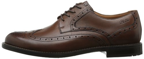 Clarks Men's Dorset Limit Oxford,Brown Leather,9 M US