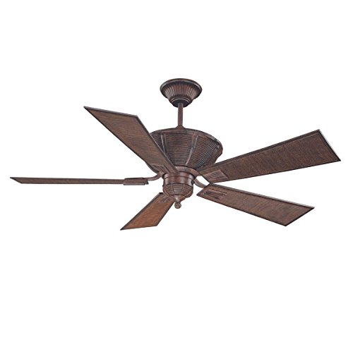 Savoy House 52-110-5BA-04 Danville 52-Inch Ceiling Fan, Dark Bamboo (Savoy House Outdoor Ceiling Fan compare prices)