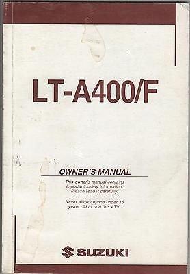 2004 Suzuki Atv 4 Wheeler Lt-A400/F P/N 99011-38F52-03A Owners Manual(567) front-844152