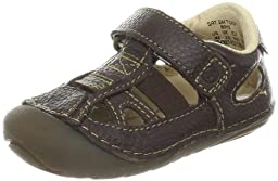 Stride Rite SRT SM Tony Sandal (Infant/Toddler),Dark Brown,3 M US Infant