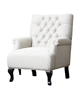 Abbyson Living Roma Tufted Fabric Club Chair Kitchen Dining