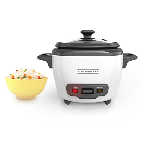Best Review Of BLACK+DECKER RC503 Mini 3-Cup Cooked/1.5-Cup Uncooked Rice Cooker, White