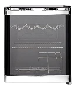 Russell Hobbs RHGWC1B Black Glass Door Drinks and Wine Cooler, 12 Bottle (75cl) Capacity - Free 2 Year Warranty*