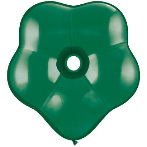 "16"" Geo Blossom Emerald Green Balloons (10 ct) (10 per package) - 1"
