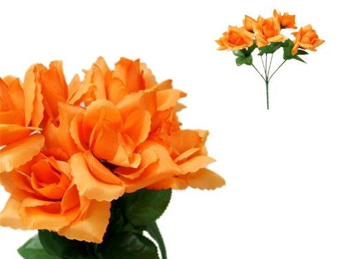 252 Orange Silk Open Roses Wedding Flowers Bouquets