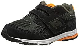 New Balance KV990I Running Shoe (Infant/Toddler), Green/Orange, 2 XW US Infant
