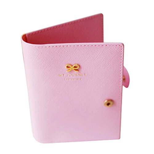 Macfor Passport Holder Cover Ticket Card Case Sweet Bowknot Pu Leather Travel Wallet (Pink) (Sweet Ticket compare prices)