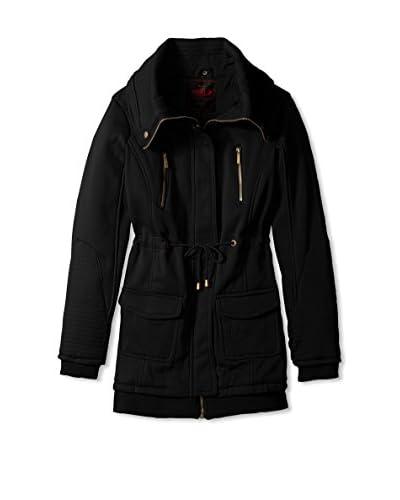 Yoki Women's Anorak Fleece Jacket  [Black]