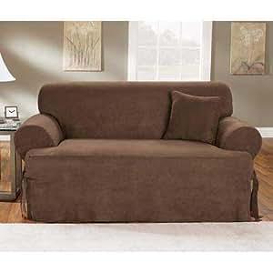 Amazon Chocolate Soft Suede e Piece Tcushion Sofa