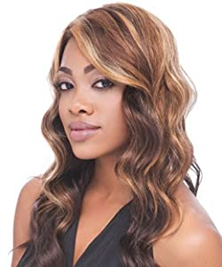 Linda - Empress Natural Lace Front Wig - Synthetic Hair Wig (DX4130-Medium Brown/Light Copper Mix)