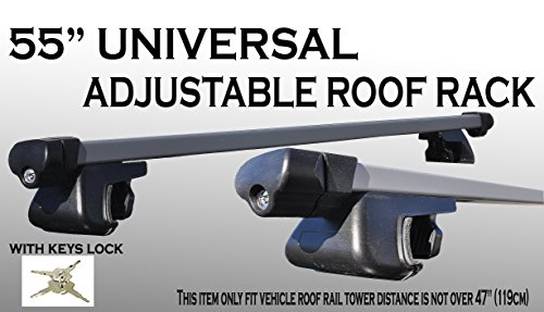 One Set 55 inch 135cm Aluminum roof rack top rail cross bars cargo carrier w/ keys locks (Bmw X5 Cross Bars compare prices)