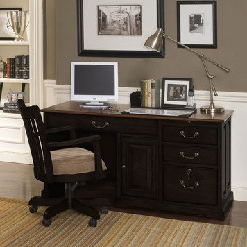 Bridgeport Desk Chair in Antique Black Finish 2