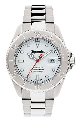 Gigandet G2-015 - Reloj para hombres, correa de acero inoxidable color plateado