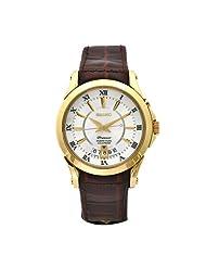 Seiko Men's SNQ118 Premier Brown Leather Perpetual Calendar Watch