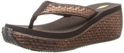 Bronze Wedge Sandals front-1029177