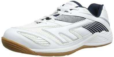 HI-TEC Viper Court Chaussures de Squash pour Homme, Blanc/Marine/Argent, 40
