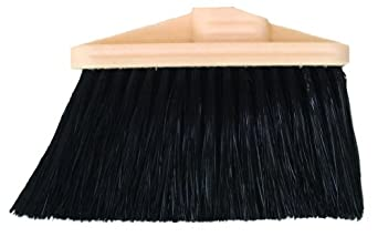 "Magnolia Brush 473-DS Household Broom, Poly Bristles, 5"" Trim, 9"" Length, Black (Case of 12)"