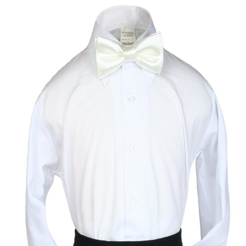 Unotux Boys Suits Tuxedos Formal Wedding Ivory Satin Bow Tie From Baby To Teens front-995913
