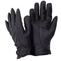 Ladies/Womens Genuine Leather Gloves (M/L) (Black)