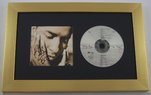 Baby Face The Day Authentic Signed Autographed Music Cd Cover Display Custom Framed Loa