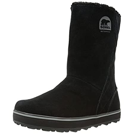 Taking the shearling-style boot back to basics with a twist, the SOREL GlacyTM winter boot is geared for slush and rain with a waterproof and breathable membrane to keep feet dry and comfortable. The waterproof suede upper features a stylish quilted ...