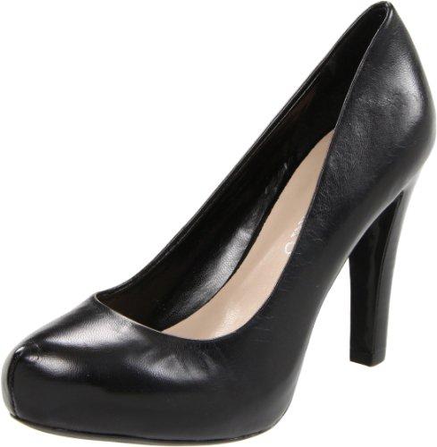 Franco Sarto Women's Cicero Pump,Black Leather,8.5 M US