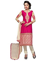 Mahiyar Charming Pink And Off-White Embroidered Salwar Suit