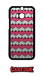 Caseque Pin Heart Back Shell Case Cover for HTC One M8