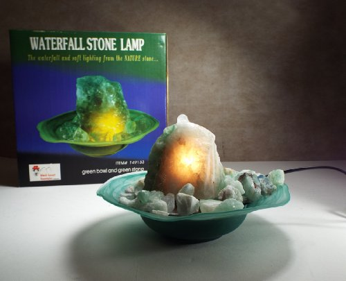 Sumi Natural Precious Stone Lighted Waterfall/fountain- Mystic Green