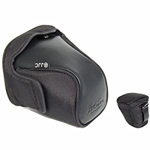 Janco Semi-hard Zoom Case For The Digital Rebel T1i XSi XS 650D 600D 550D 500D 1000D 450D with zoom lens replace EH-18L and EH19-L