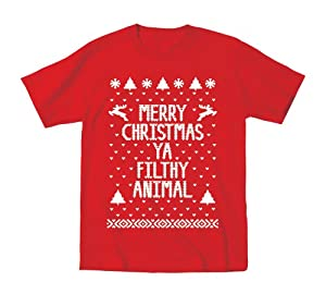 Merry Christmas Ya Filthy Animal Funny Ugly Sweater Party Toddler Shirt