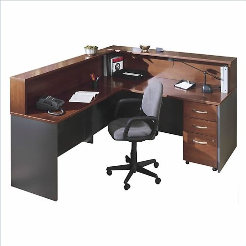 bush furniture hansen cherry corsa series l shape