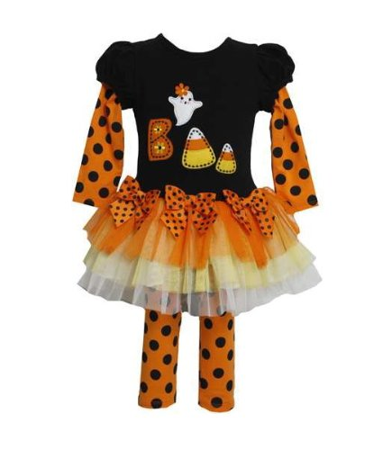 Bonnie Jean Baby-girls Halloween Dress Outfit Set with Leggings