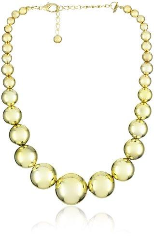 Kenneth Jay Lane Polished Gold Graduated Bead Necklace