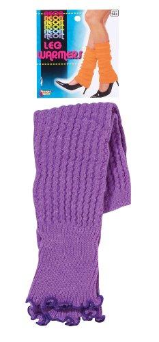 Forum Novelties Neon Leg Warmers, Purple, One Size