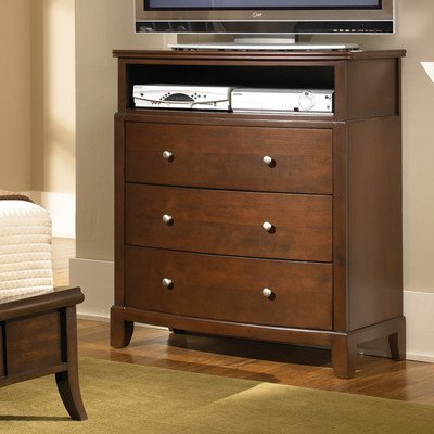 Coaster Home Furnishings Casual Contemporary Media Chest, Dark Cherry front-1016975