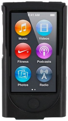 roocase-apple-ipod-nano-7-7th-generation-hybrid-silicone-case-with-detachable-holster-clip-black