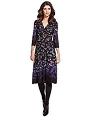 Per Una Twisted Knot Butterfly Print Dress with StayNEW™