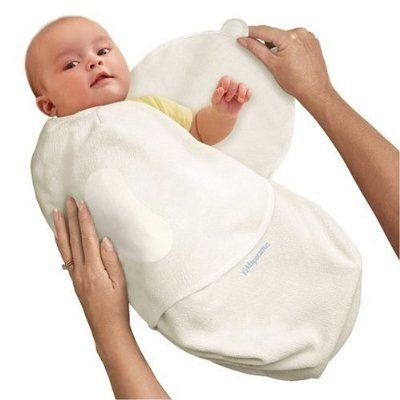 Kiddopotamus SwaddleMe Microfleece, Small, Ivory