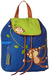 Stephen Joseph Quilted Backpack - Monkey - Boy