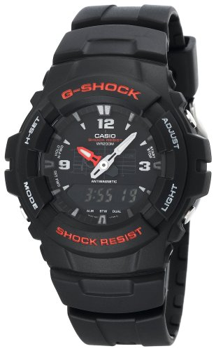 Casio G-SHOCK G-100-1BVMES Mens Combi Resin Strap Watch
