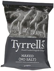 Tyrrells Naked Crisps 40 g (Pack of 24)