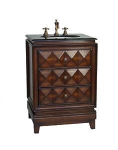 24 art deco colton bathroom sink vanity model h0003r