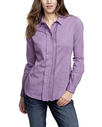 Comma CI Damen Bluse Regular Fit 88.310.11.8470 BLUSE LANGARM, Gr. 44 (XXL), Violett (47P7 purple/pink tweed)