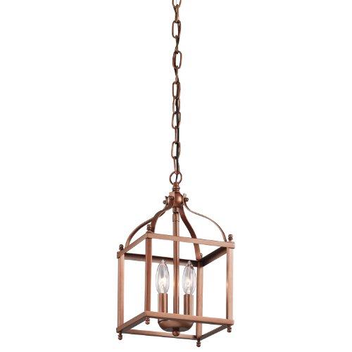 Kichler Lighting 42565Aco Larkin 2Lt Foyer Pendant, Antique Copper Finish