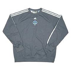 New Orleans Hornets Team Issued adidas Crew Sweatshirt Size XL - Slate Gray